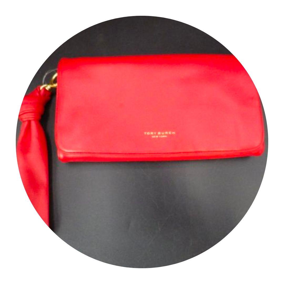 Tory Burch Tri-fold Clutch Red Wallet