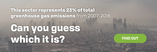 This sector represents 23% of total GHG emissions from 2007-2016. Can you guess which it is?