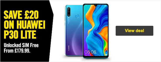 Save 20 GBP on Huawei P30 Lite