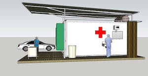 Hospital beds and coronavirus test centres are needed fast. Here's an Australian-designed solution