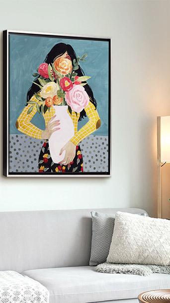 Flower Vase Girl II by Grace Popp