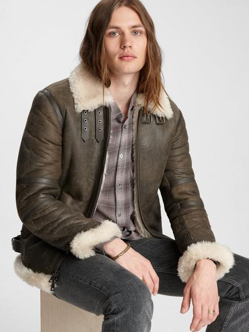 SHEARLING FLIGHT JACKET