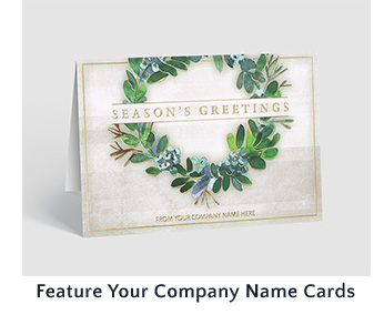 Feature Your Company Name Cards