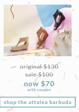 Original $130, Sale $100, Now $70 (with coupon) Shop the Attalea Barbuda