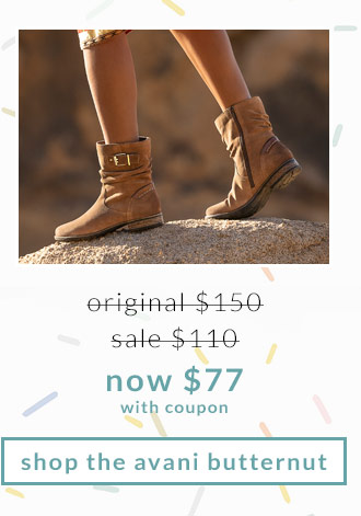 Original $150, Sale $110, Now $77 (with coupon) Shop the Avani Butternut