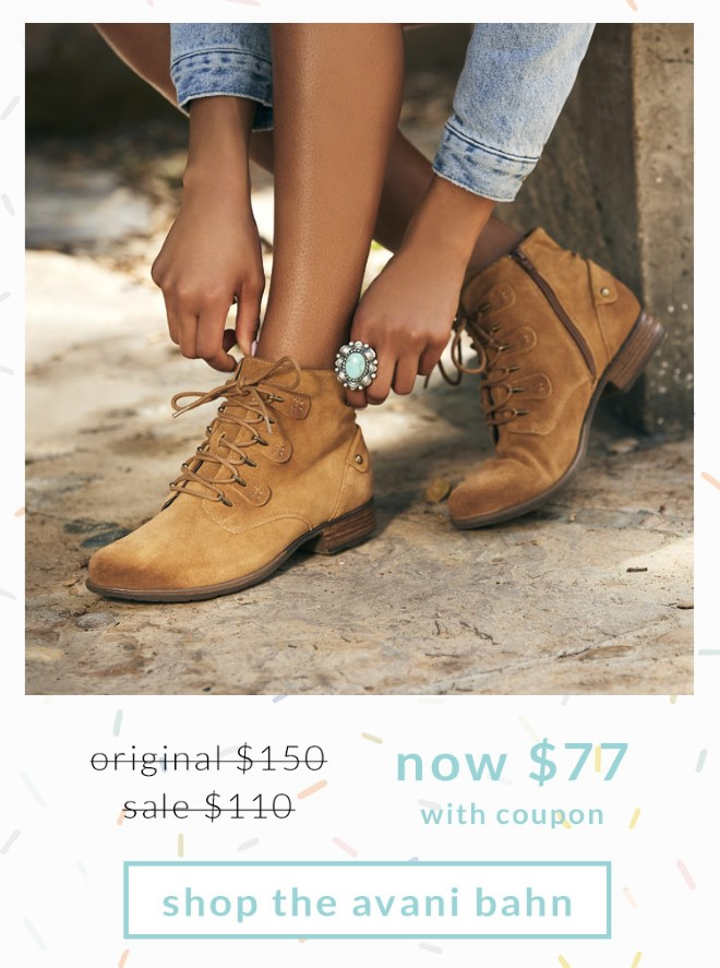 Original $150, Sale $110, Now $77 (with coupon) Shop the Avani Bahn.