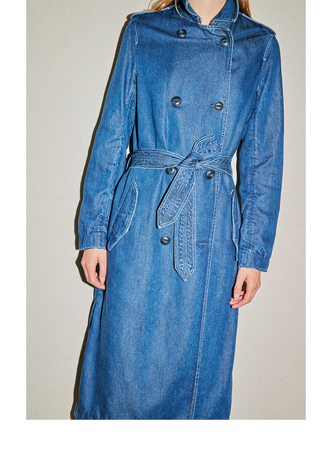 The Tailored Trench Coat in Willow.