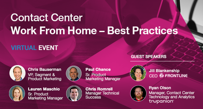Contact Center Work From Home - Best Practices