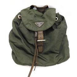 Prada Forest Green Nylon Mini Backpack