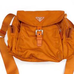 Prada Orange Nylon Crossbody Bag