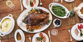 Thanksgiving turkey dinner - image