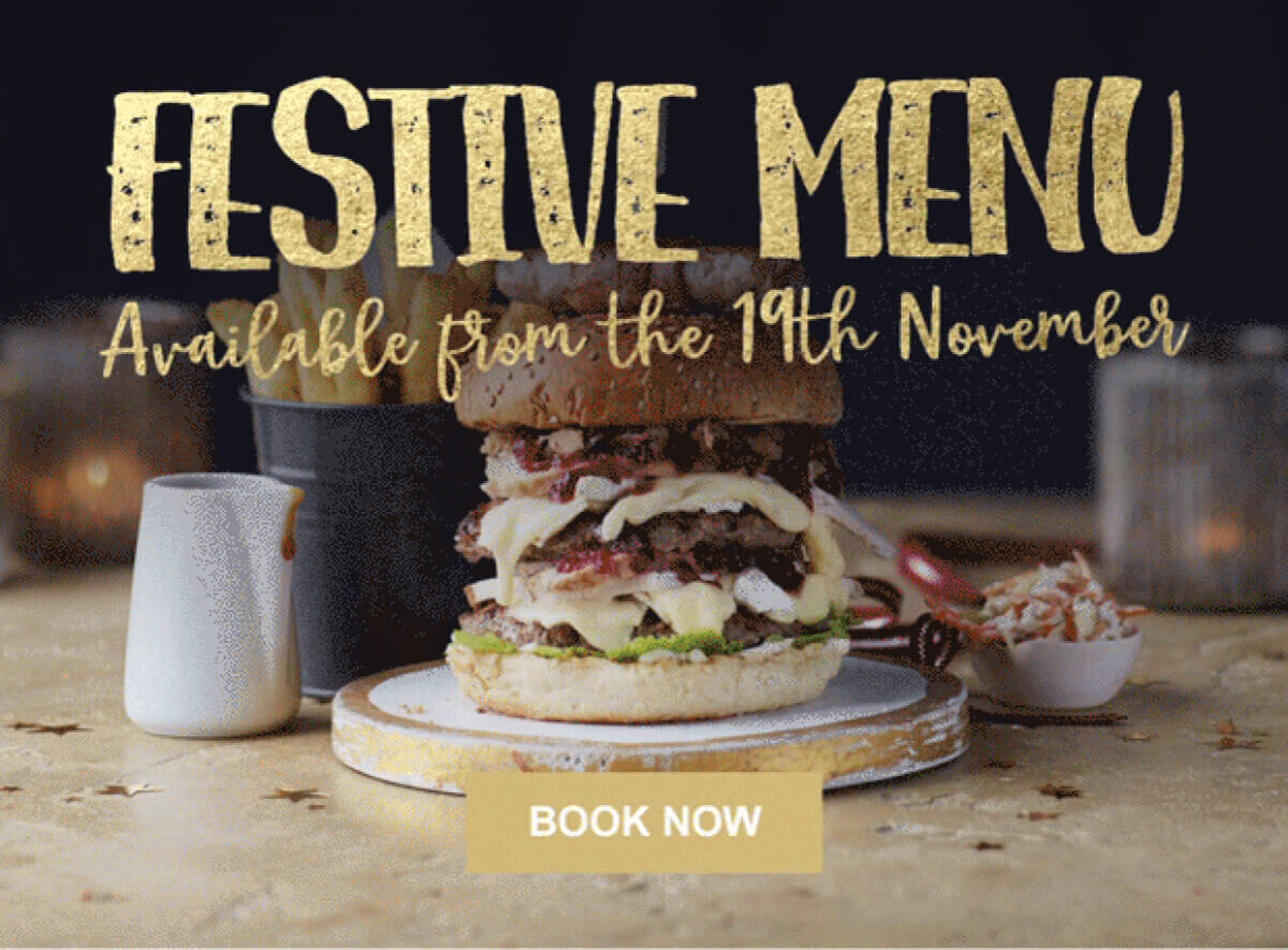 FESTIVE MENU AVAILABLE FROM THE 19TH NOVEMBER - BOOK NOW
