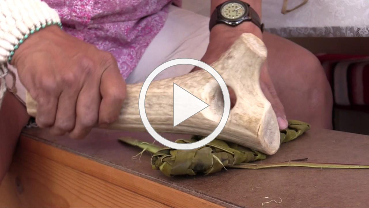 Mary Weahkee makes Mogollon sandals from yucca