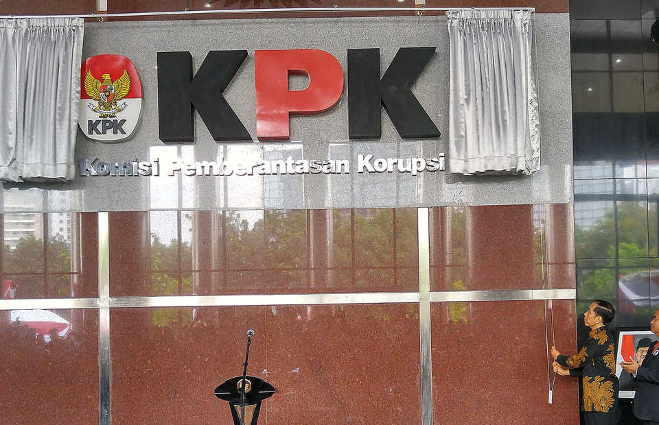 The Corruption Eradication Commission (KPK) will assist police to investigate 56 fictitious villages in Konawe district, Southeast Sulawesi, allegedly used to siphon funds from the state budget. (Antara Photo/Widodo S. Jusuf)