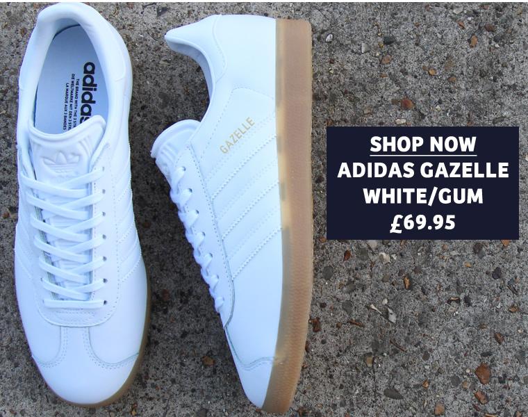 Adidas White Gum Gazelle