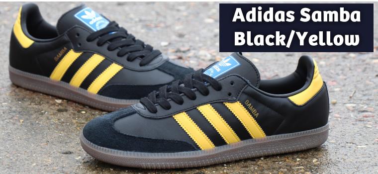 Adidas Samba Black/Yellow