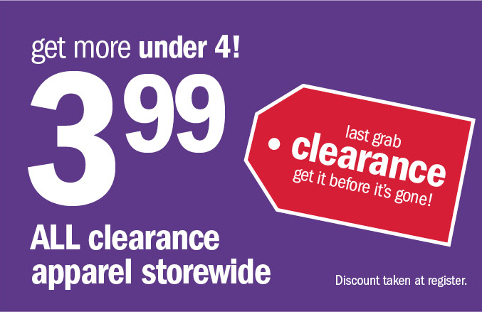 last grab | clearance | get it before it's gone!