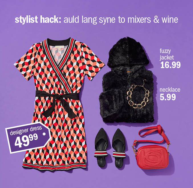 stylist hack: auld lang syne to mixers & wine