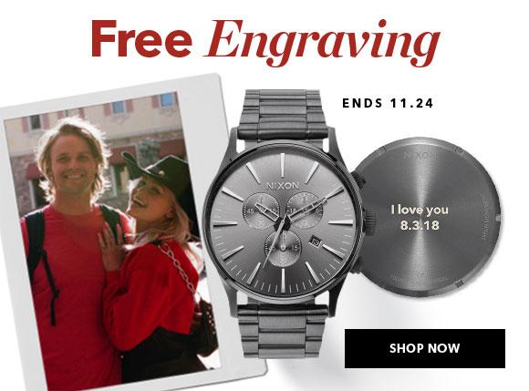 Nixon Free Watch Engraving
