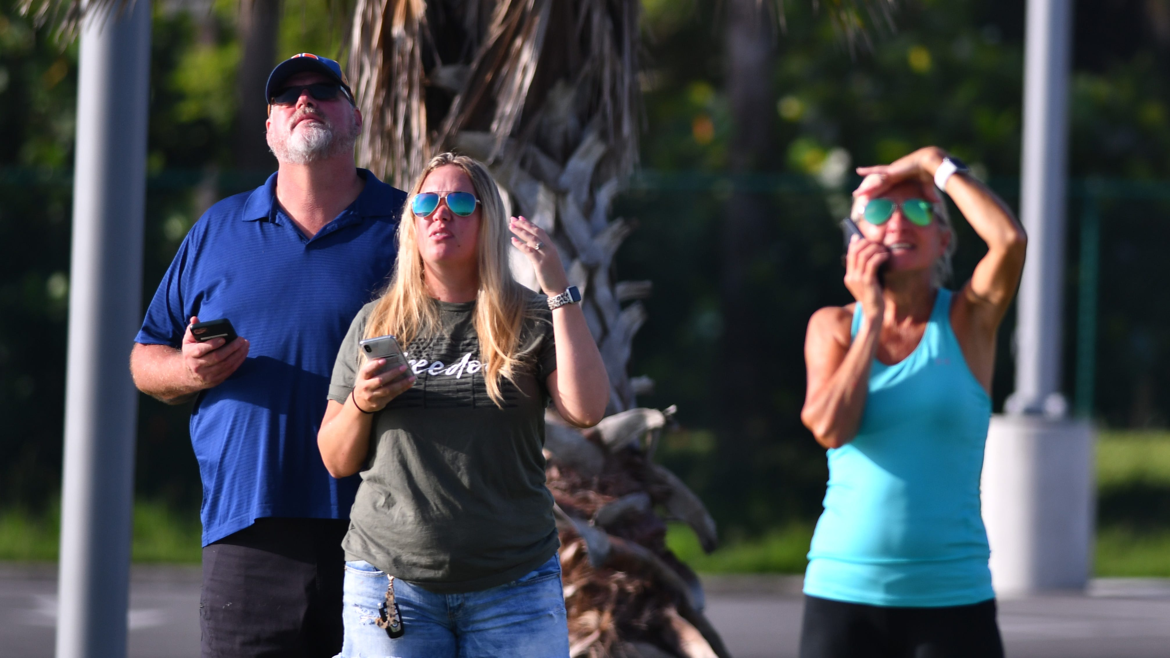 Spectators at the Freddie Patrick Boat Ramps at Port Canaveral had a close up view of the  SpaceX launch of a Falcon 9 rocket from Kennedy Space Center's pad 39A with its 12th batch of 60 Starlink internet satellites  launched at 8:46 a.m. Thursday morning.