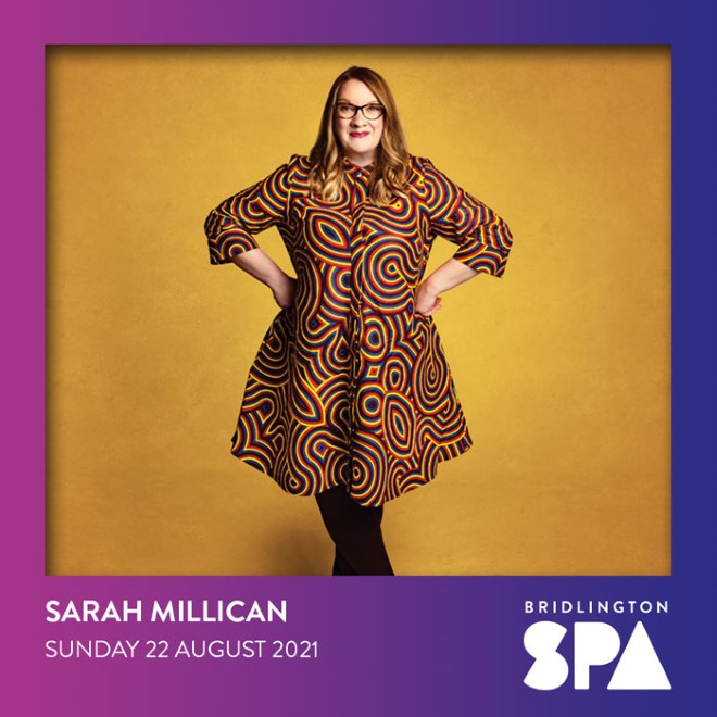 Sarah Millican is bringing her Bobby Dazzler tour to Bridlington Spa next year