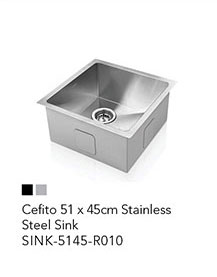 Cefito 51 x 45cm Stainless Steel Sink