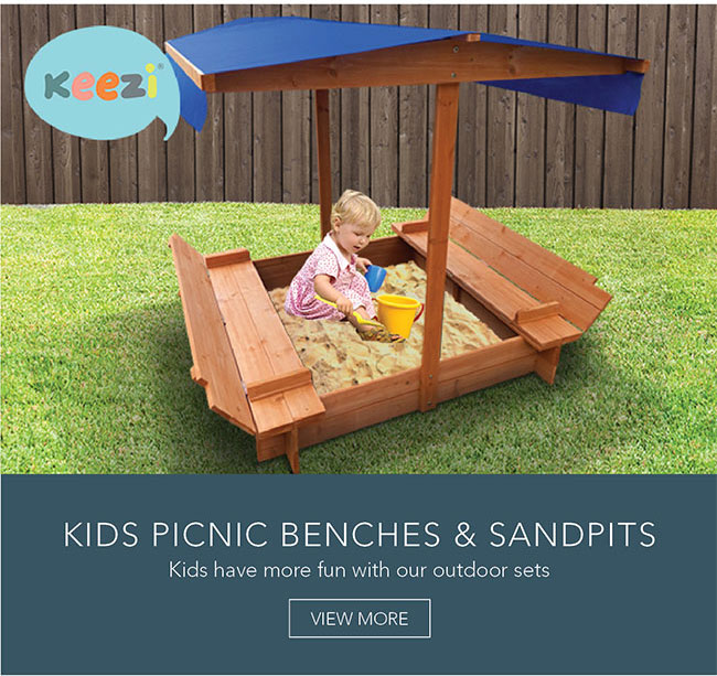 Kids have more fun with our outdoor sets