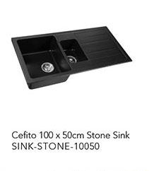 Cefito 100 x 50cm Stone Sink