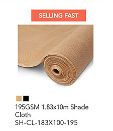 195GSM 1.83x10m Shade Cloth
