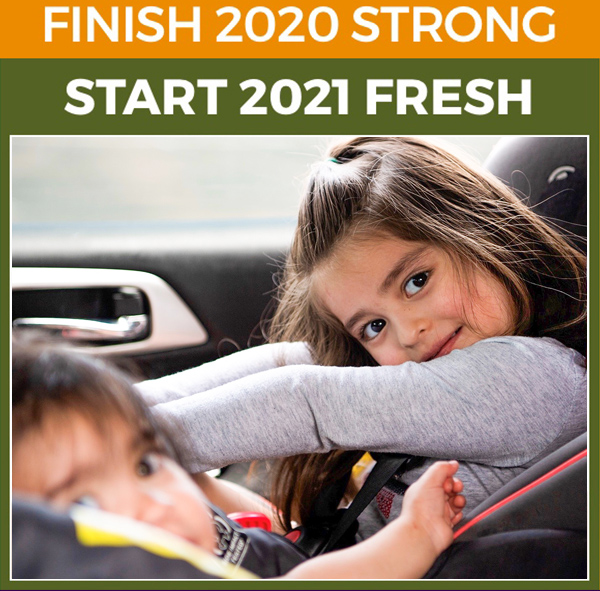 Finish 2020 strong. Start 2021 fresh.