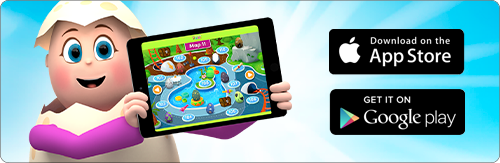 Reading Eggs app available on the App Store and Google Play