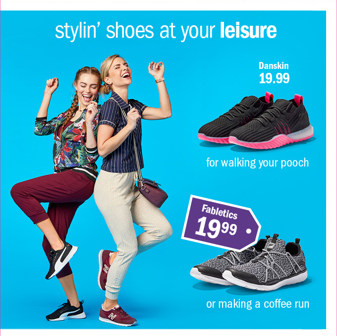 Stylin' shoes at your leisure