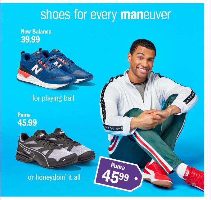 Shoes for every maneuver