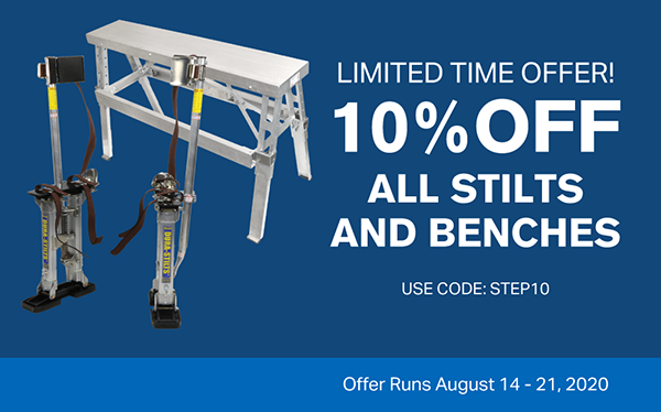 10% Off Stilts and Benches