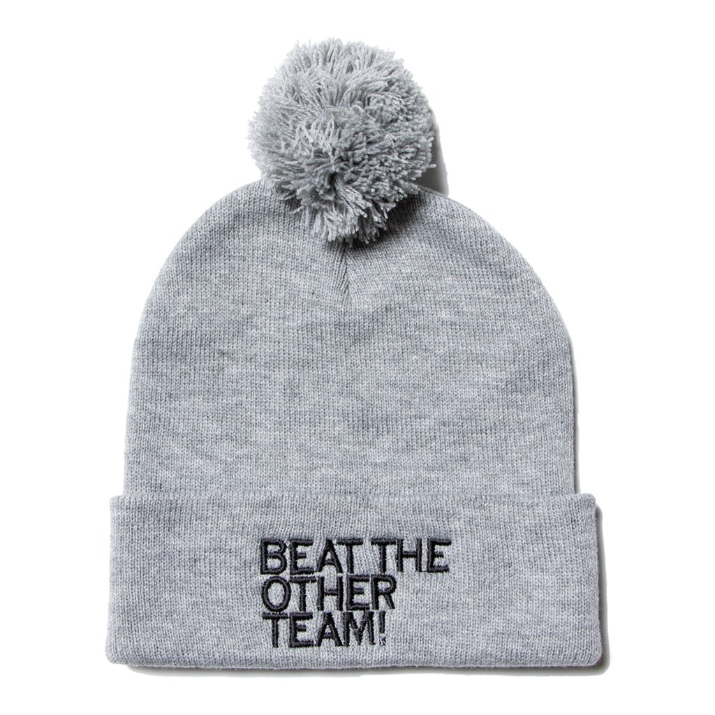 Beat The Other Team Pom Beanie