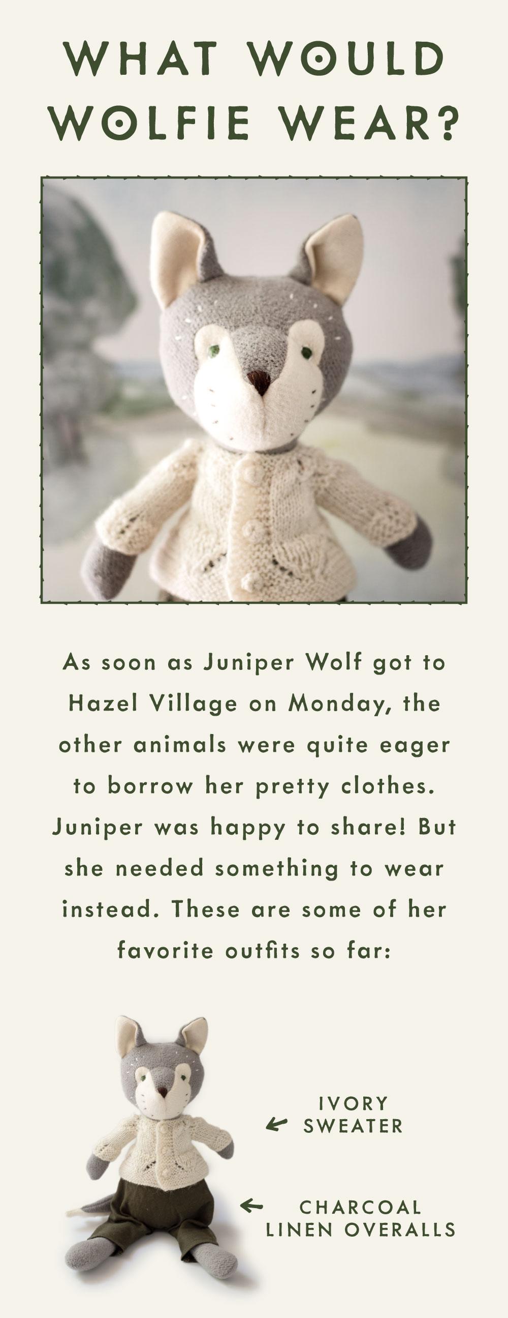 what would wolfie wear?