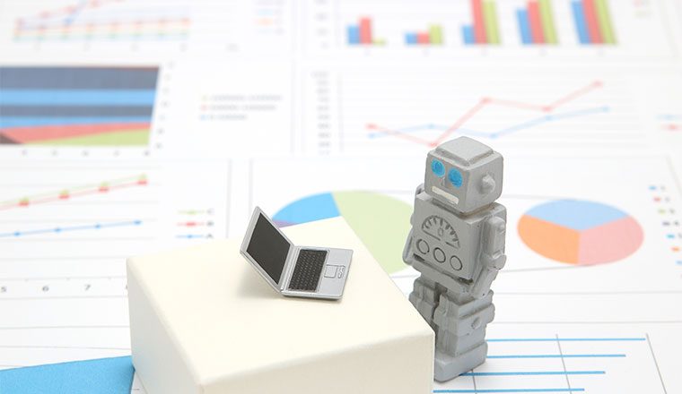 A picture of a robot on graphs