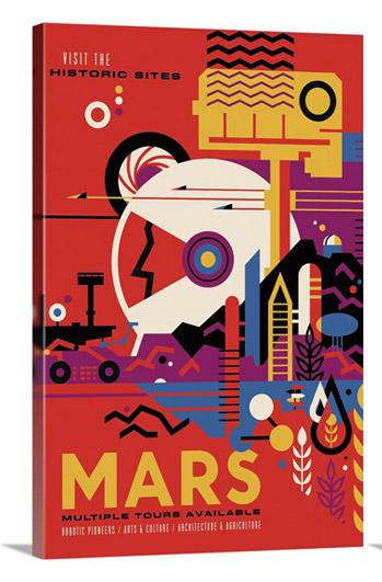 Mars - JPL Travel Poster by NASA JPL