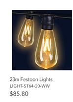 23m Festoon Lights