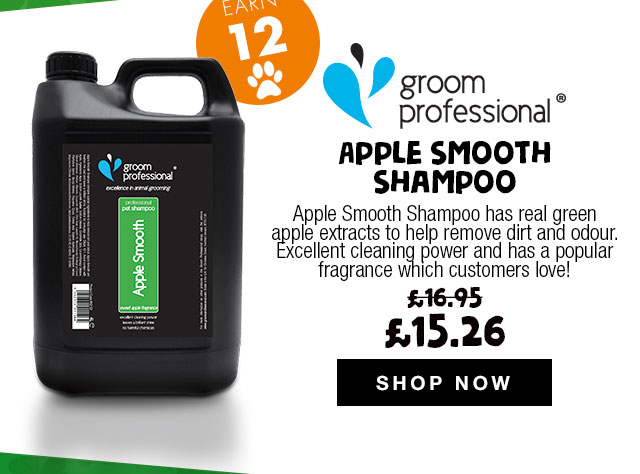 10% Off Groom Professional Apple Smooth Shampoos