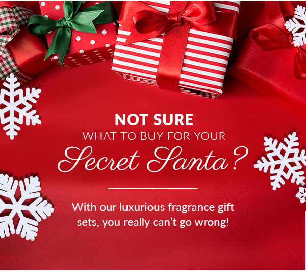Not sure what to buy for your secret santa? With our luxurious fragrance gift sets, you really can't go wrong!