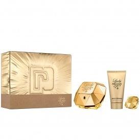 Lady Million 50ml Eau de Parfum, Body Lotion 75ml & Travel Spray 10ml Gift Set