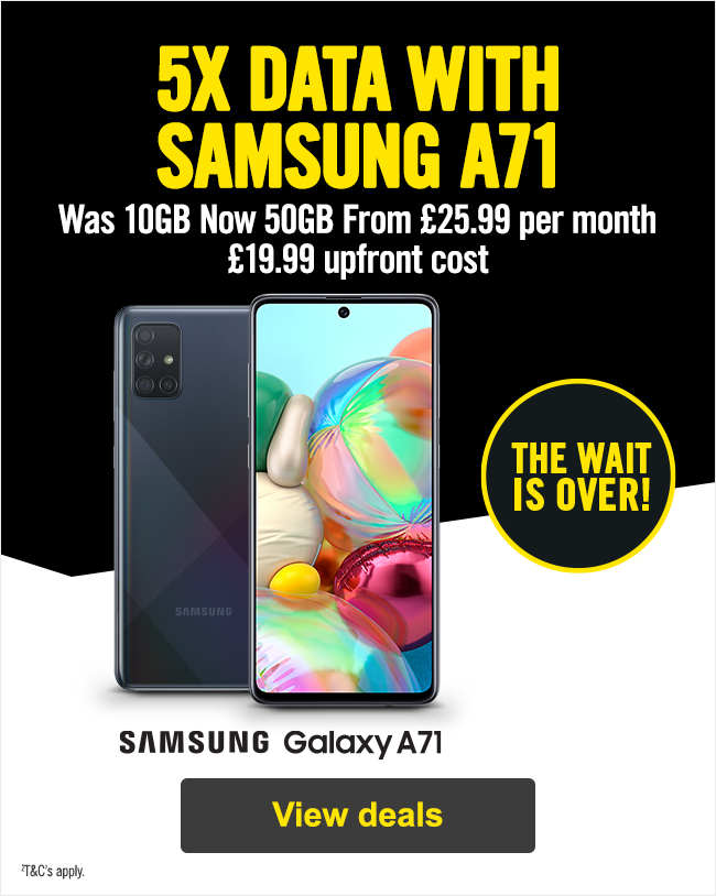 5x data with Samsung A71