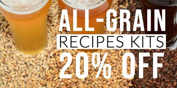 20% Off Season All Grain Recipes