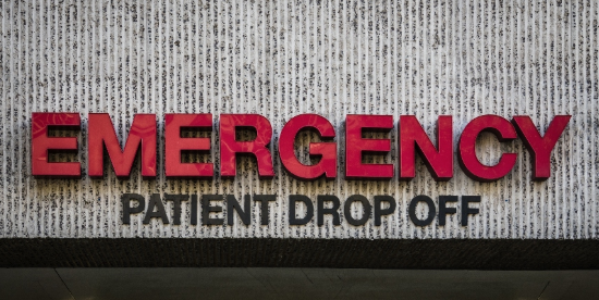 ER Patient Drop Off Sign - image