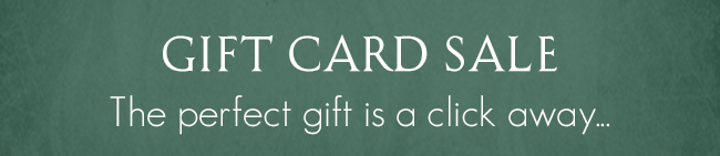 Gift Card Sale Header
