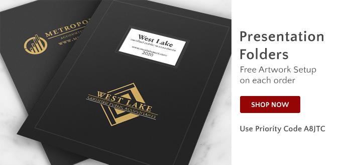 Presentation Folders - Free Artwork Setup - Use Priority Code A8JTC
