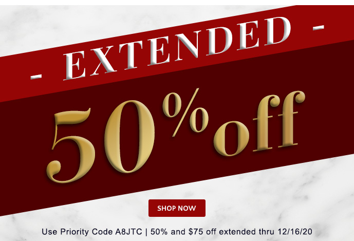 Ends Today! 50% & $75 off Holiday Cards thru 12/14 - Use Priority Code A8JTC