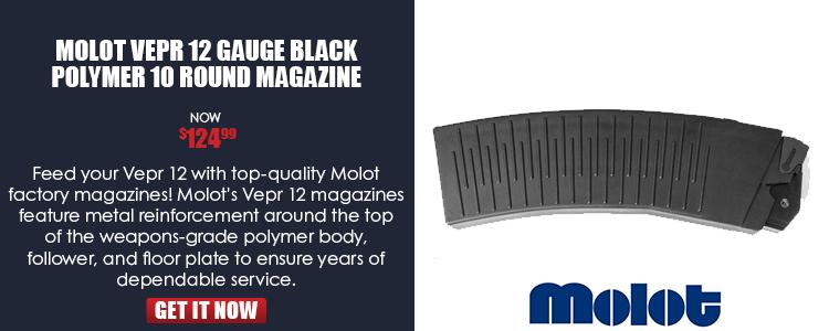 Molot Vepr 12 Gauge Black Polymer 10 Round Magazine