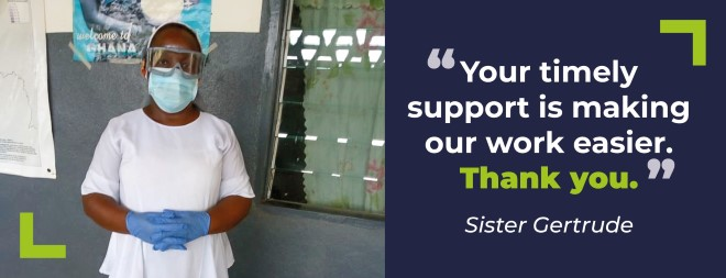 Thank you from Sister Gertrude